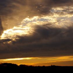 Zonsondergang omgeving Zutphen