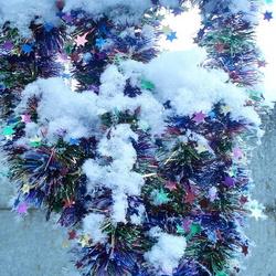 Slingers in de sneeuw
