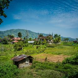 Het platteland van Sumatra