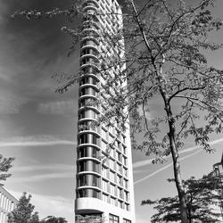 Toren in zwart-wit