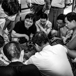 het sociale leven op de straat in China