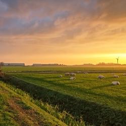 Prachtige zonsopkomst boven Texel.