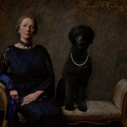 Dame met hond