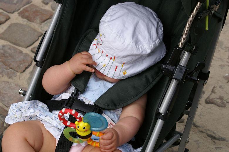 Geen foto! - Onze dochter, Sterre, van 10 maanden oud wilde niet op de foto. Of wilde ze gaan slapen?