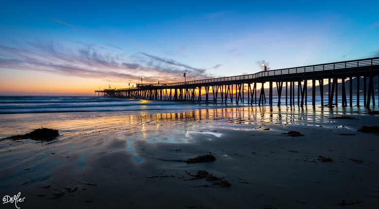 Zonsondergang Pismo - Pismo Beach California