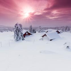 Sunburst in Norway