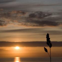Zonsondergang in Bleik