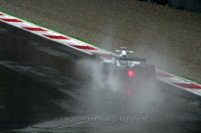 Spray- Monza - Toen begon het wat harder te regenen..
