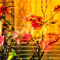 kunst(ige) bloemetjes compositie