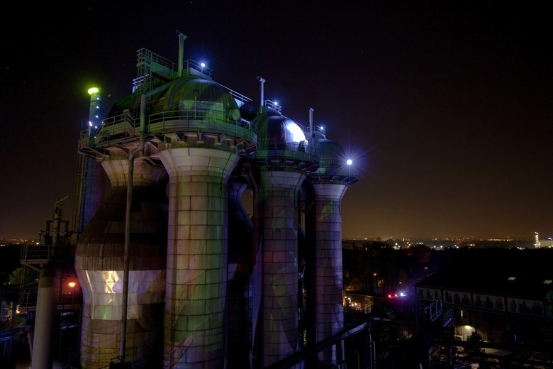 Toren in Landschaftspark - Een avondje naar dit park om foto´s te maken.<br /> Echt leuk om een keer heen te gaan