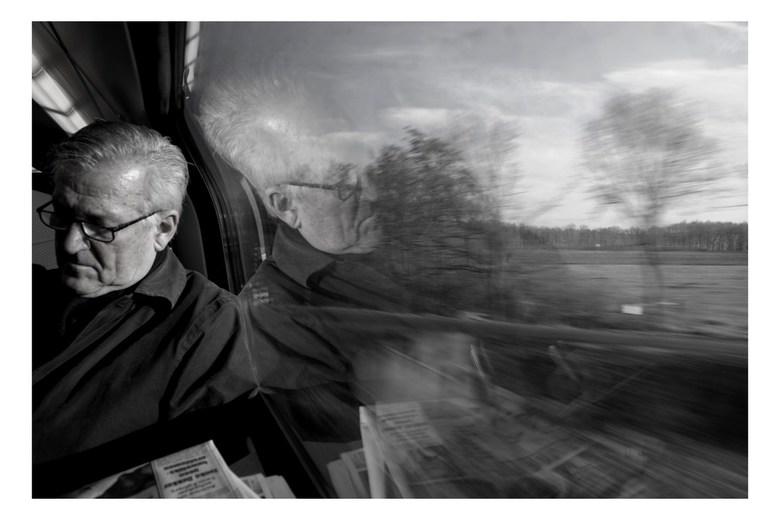 Man in Train - Man in een trein