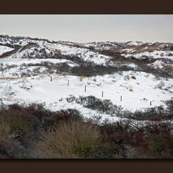 duinen en sneeuw