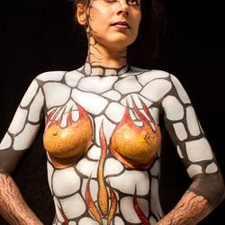 Bodypaint model Chantal