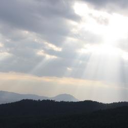 Zon boven Addis Ababa