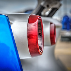 Close-up achterlichten sportwagen