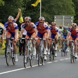 Rabotrein op NK wielrennen in Ootmarsum