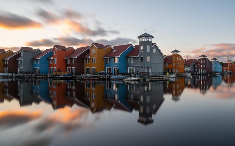 Reitdiep Zonsondergang - Zonsondergang van 28 mei 2019 te Reitdiep Haven in Groningen.