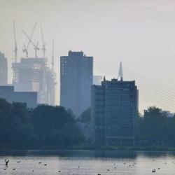 De Rotterdam in aanbouw op Kop van Zuid