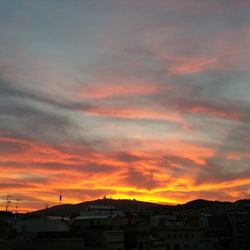 Uitzicht vanaf een dakterras in Barcelona