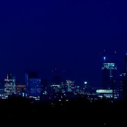 Skyline in het donker