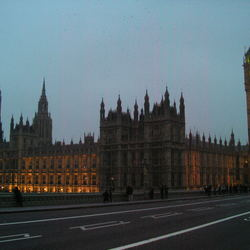 Palace of Westminster by night.