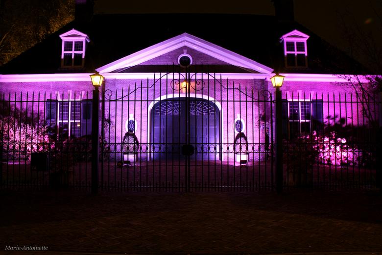 Glow Eindhoven 2013  - Deze mensen hadden hun huis ook verlicht, geen kunstproject maar ik vind het mooi.