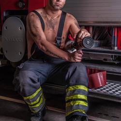 Brandweer fotoshoot