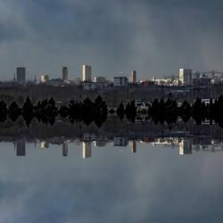 Stadslandschap Eindhoven kleur