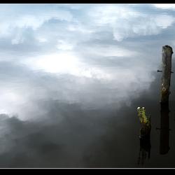 Wolken en ..... meerpalen
