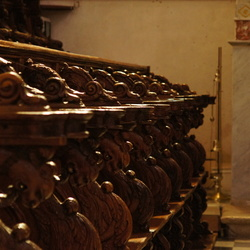 Sicilië - Kerkbanken