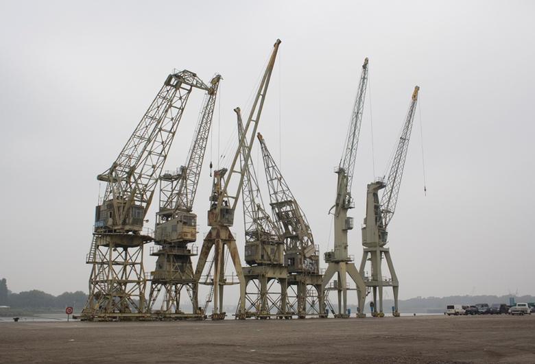 Hijskranen - hijskranen in de haven van antwerpen