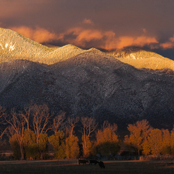 the Taos of sunset