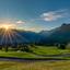 Zon opkomst Oostenrijk