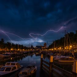 Storm boven Dordrecht