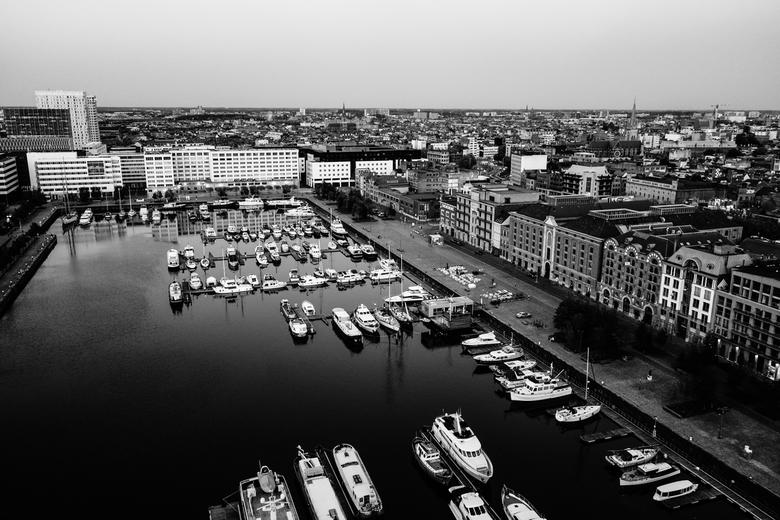 Antwerpen - Jachthaven - Genomen vanaf het panorama terras van MAS te Antwerpen.
