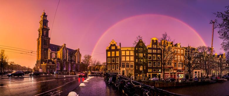 Sunset Westerkerk Amsterdam
