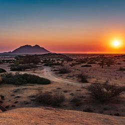 zonsondergang bij Spitkoppe