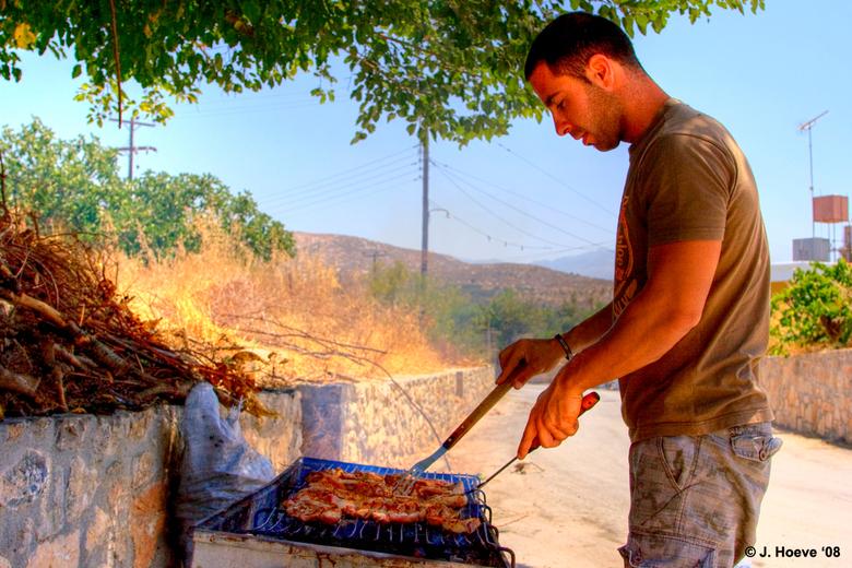 Kreta - Lunchpauze tijdens jeepsafari in Kreta.