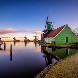 Sunrise in the windmill village