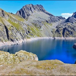 @2252m altitude; a lake with a dam