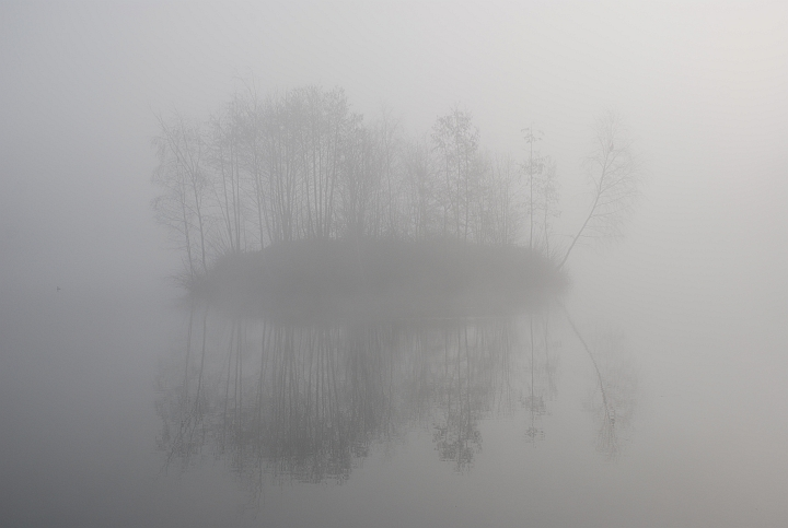 eiland in de mist -