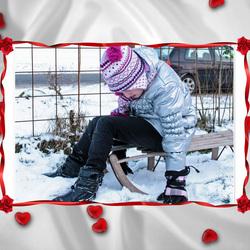 Mijn meisje andere Valentijnsfoto.