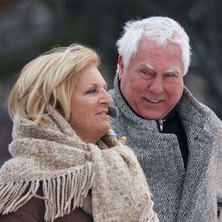 Cesar Zuiderwijk en Anita Meijer