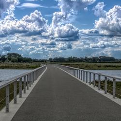 brug naar de IJssel bij Zwolle. Vreugde hoeve