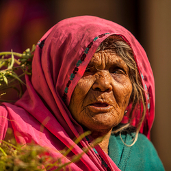 Woman with herb