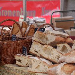 Frans brood op de markt