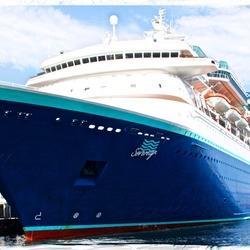 Large cruise ship ...