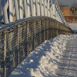 Een witte brug