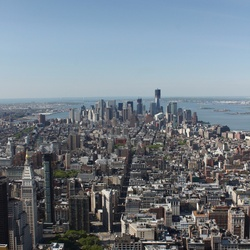 Downtown New York vanaf Empire State Building