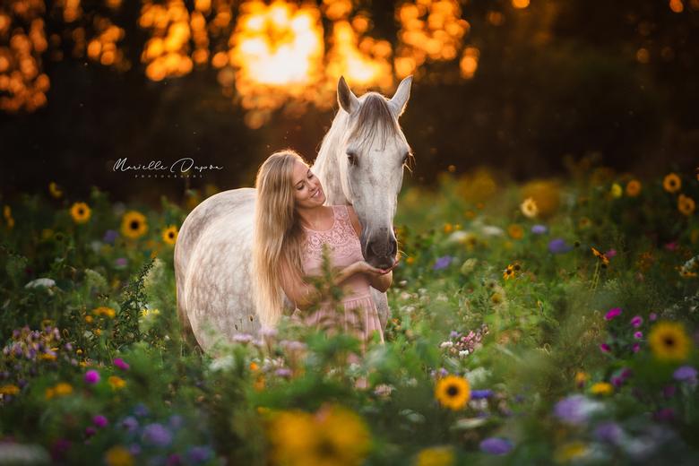 Flowers & sunsets - Wat een feestje om deze twee prachtige modellen in dit mooie bloemenveld te kunnen fotograferen. Geweldig concept ook een pluk
